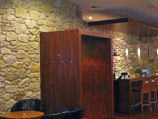 Fornitura pietra ricostruita per lavori interni ed esterna - Bagno in pietra ricostruita ...
